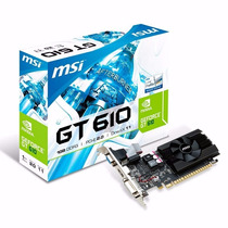 Tarjeta De Video Msi Geforce Gt 610 2gb Ddr3pci Express