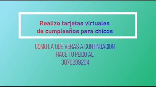 tarjetas virtuales en video para enviar por whatsapp