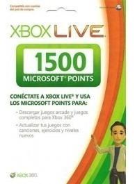 tarjetas xbox 4500 puntos live gold points