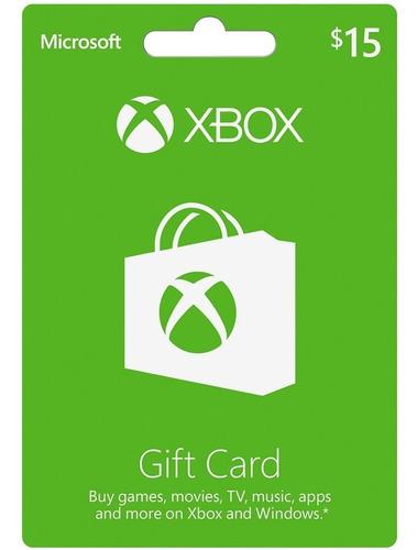 tarjetas xbox live usa microsoft xbox gift card $15 store