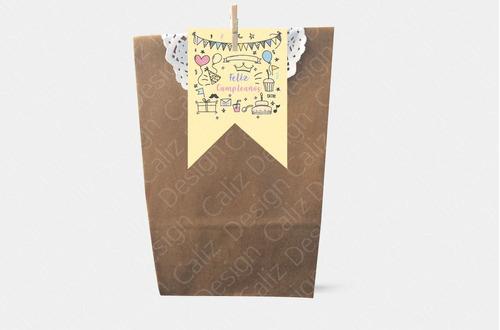 tarjetas y bolsas de cumpleaños infantiles