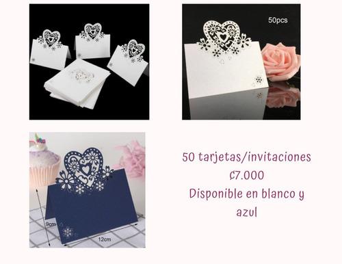 tarjetas/invitaciones de boda