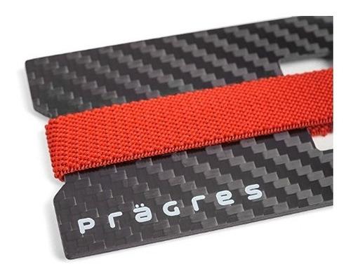 tarjetero billetera de fibra de carbono minimalista.