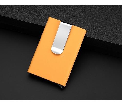 tarjetero clip 4 colores