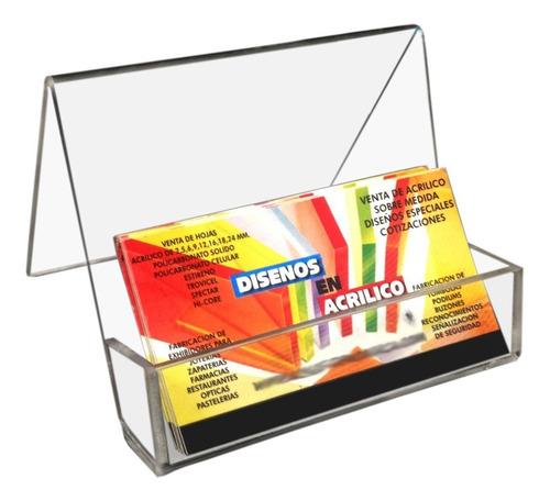 tarjetero en acrilico 3mm cristal