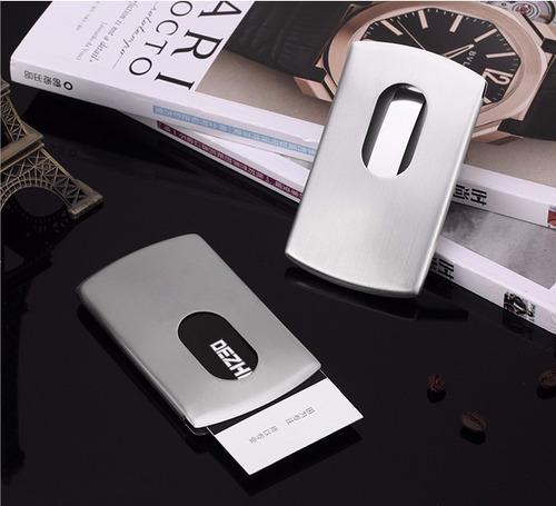 tarjetero metal elegante,importado para tarjetas personales