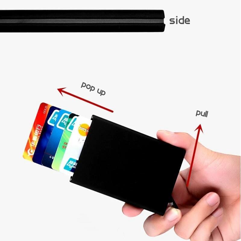 d125f61c4 tarjetero metálico cartera para hombre y mujer con clip rfid. Cargando zoom.