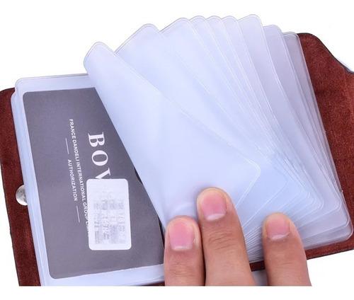 tarjetero organizador de tarjetas unisex