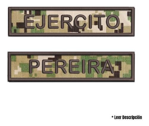 tarjetero rótulo nombre apellido bordado uniforme militar