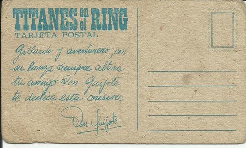 tarjeton tarjeta postal titanes en el ring