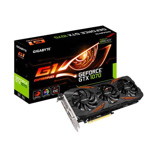 tarj.vid.gigabyte gtx1070 8gb gaming gv-n1070g1 gaming-8g