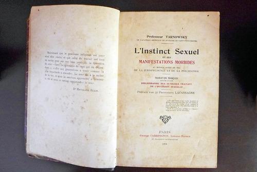 tarnowsky.  l'instinct sexuel et ses manifestations morbides