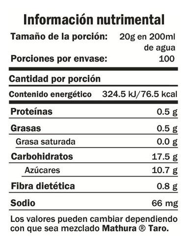 taro mathura 600g mezcla en polvo