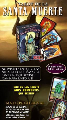 tarot de la santa muerte - 80 cartas y manual de uso