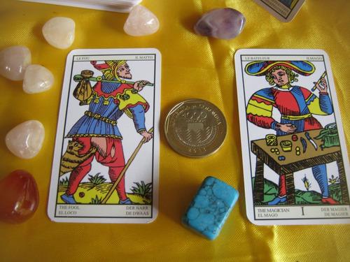 tarot de marsella mini - wicca- brujeria- cartomancia