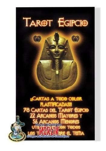 tarot egipcio - 78 cartas y folleto - cartas plastificadas