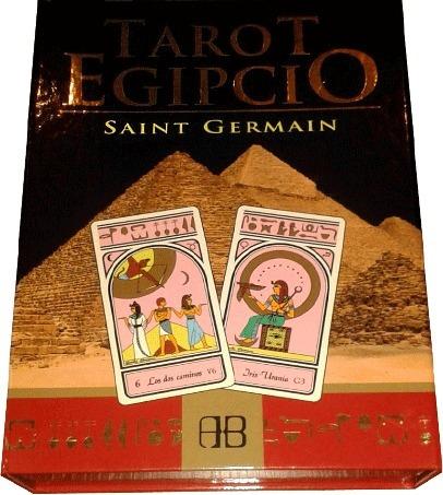 tarot egipcio | libro + 78 cartas - saint germain - arkano