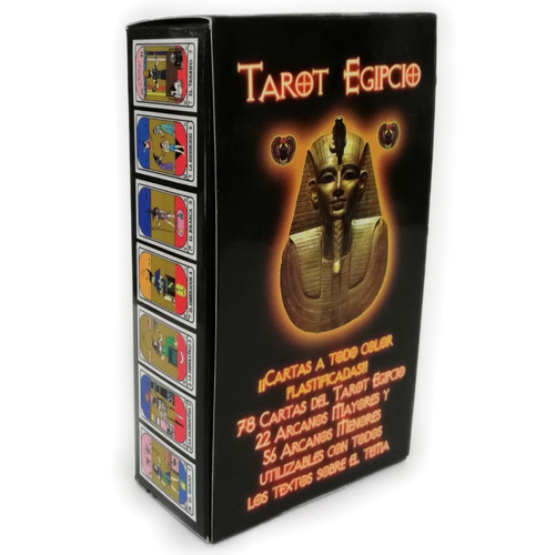 tarot egipcio mini 78 cartas plastificadas con manual