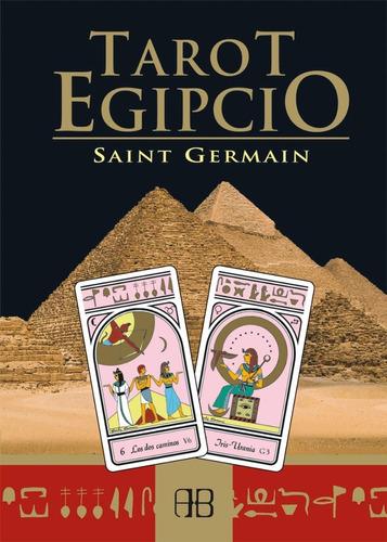 tarot egipcio, saint germain, libro y cartas