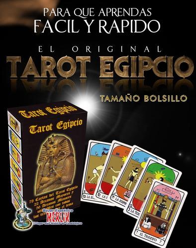 tarot egipcio - tamaño mini cartas plastificadas con folleto