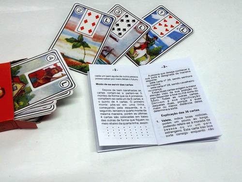 tarot marselha baralho cigano da sorte com manual (promoção)