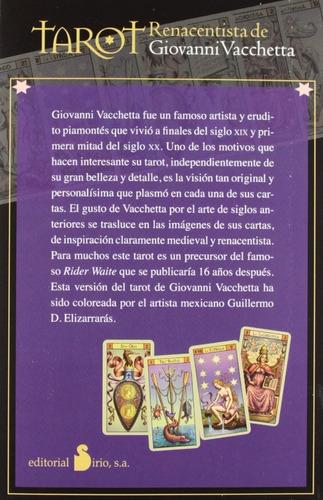 tarot renacentista - incluye libro y 78 cartas de tarot