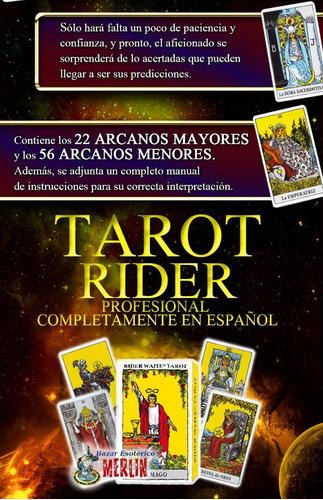 tarot rider cartas profesional incluye folleto de uso