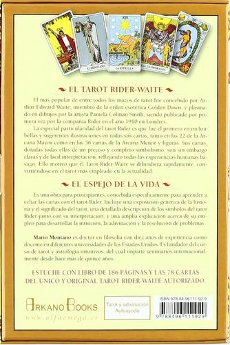 tarot rider el espejo de la vida (cartas con  libro)