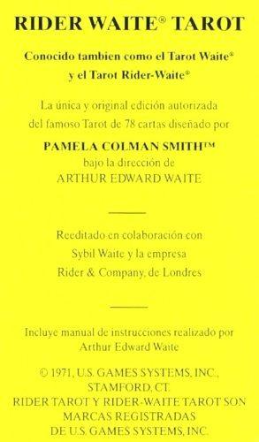 tarot rider waite arthur edward - sellado cartas originales