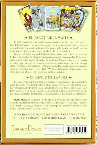 tarot rider waite estuche 78 cartas + libro