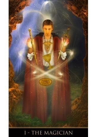 tarot thelema, las cartas están en ingles.