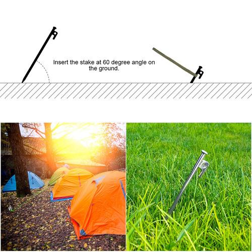 tarp ao ar livre alto força aço tenda cavilha camping tenda1