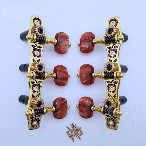 tarraxa tarracha luxo violão nylon 3x3 pino grosso - alice