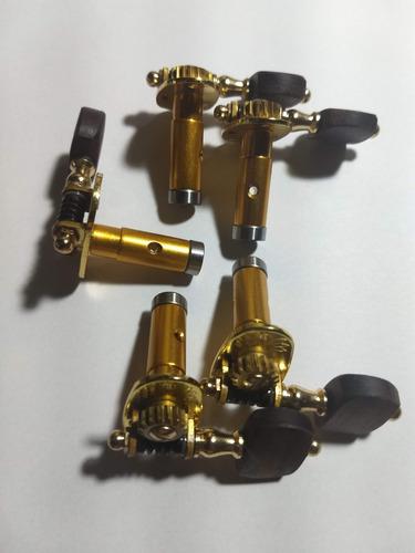 tarraxas individuais rolamentadas douradas cavaco 5 cordas