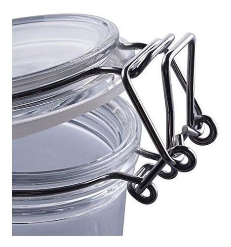 tarro frasco hermetico vidrio cocina galleta cierre metalico