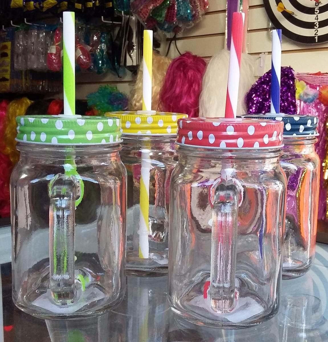 tarro mason jar frasco con asa vidrio liso 450ml tapapopote - Tarros De Vidrio