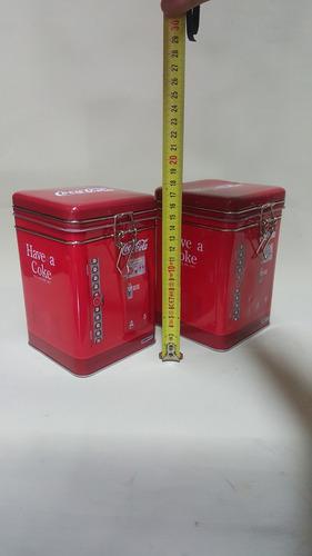 tarro metalico colección coca cola dispensador precio x c/u