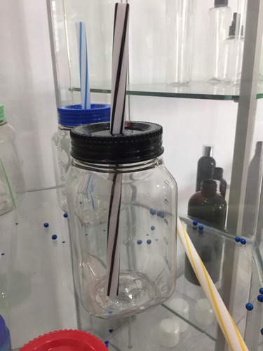 tarro popote plástico
