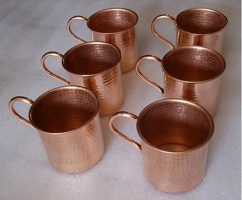 tarro, taza de cobre mide 8cmx8cm