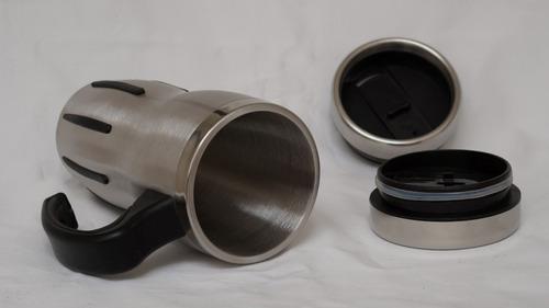 tarro térmico para café 480 ml en acero inox 18/8 con asa