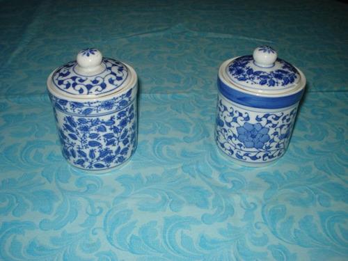 tarros en ceramica con tapa