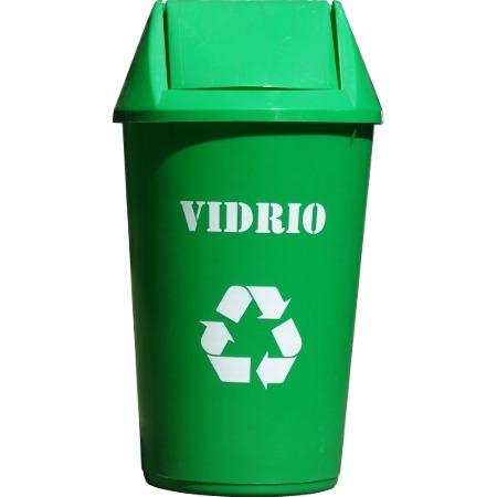 Tarros o basureros de colores para reciclaje de 36 lts - Colores para reciclar ...