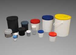 tarros plásticos para pinturas y similares