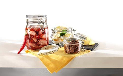 tarros,frasco transparente bormioli rocco fido, 33-3  4 ..