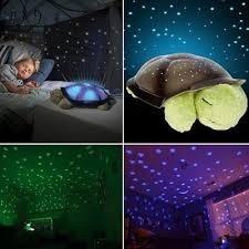 tartaruga pelucia abajur musical projetor estrelas cores