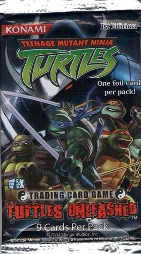tartarugas ninja - turtles unleashed - pacote com 9 cards