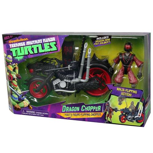 tartarugas ninja veículo deluxe - dragon chopper - multikids