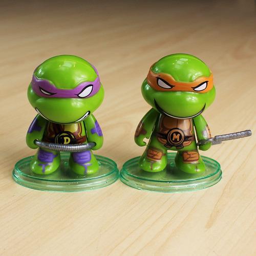 tartarugas ninjas brinquedos coleção bonecos + armas em pvc