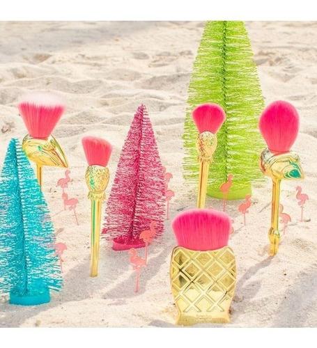 tarte - let's flamingle - brush set - kit pincéis flamingos