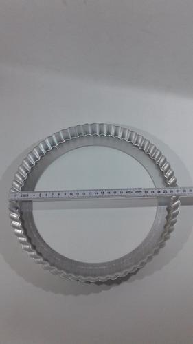 tartera aluminio 27 cm fondo móvil